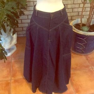 J. Ellis long denim VTG skirt